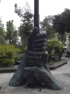 Statue in Mexico City, Parque Alameda Central