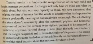 from The Body Keeps the Score--Van Der Kolk